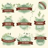 Set natürliche erstklassige Qualitätskennsätze Lizenzfreies Stockfoto