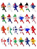Set of national basketball colors Royalty Free Stock Photos