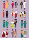 Set of National Costumes Design Royalty Free Stock Photos