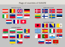 Set of national European flags. Stock Photo