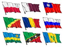 Set of national flags Stock Photos