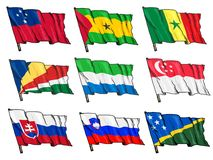 Set of national flags Stock Photography