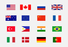 Set of National flags Royalty Free Stock Photos