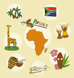 The set of national profile of the africa Stock Photo