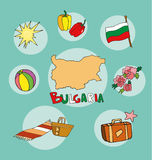 The set of national profile of the bulgaria Royalty Free Stock Photos