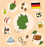 The set of national profile of the germany Stock Images