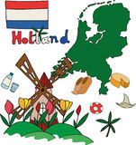 The set of national profile of the Holland Royalty Free Stock Photo