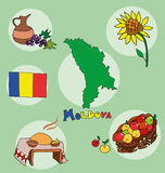 The set of national profile of the moldova Royalty Free Stock Images
