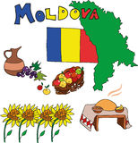 The set of national profile of the Moldova Stock Photography