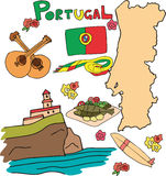 The set of national profile of the Portugal Stock Images