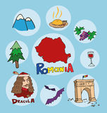 The set of national profile of the romania Royalty Free Stock Photo