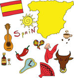 The set of national profile of the Spain Stock Images