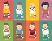 Set of national soccer team uniform , football player Royalty Free Stock Photos