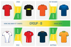 Set of nationals football uniform - group B Royalty Free Stock Image