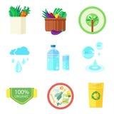 Set natura i organicznie sztandary Fotografia Stock