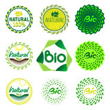 Set natural bio markers Royalty Free Stock Images