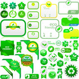 Set of natural labels. Set of eco friendly, natural and organic labels. Vector great collection