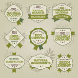 Set of natural labels. Set of vector natural labels for web and print materials royalty free illustration