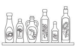 Set of natural oils Royalty Free Stock Photo