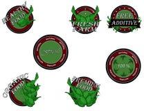 Set natural. Set of organic and natural badges and labels glossy, vector illustration Stock Photo