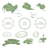 Set of natural organic eco badges and labels Stock Photos