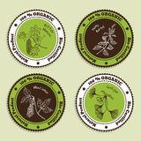 Set of Natural Organic Product badges Royalty Free Stock Photos