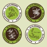 Set of Natural Organic Product badges Royalty Free Stock Images