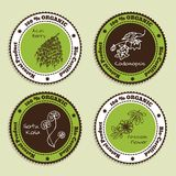 Set of Natural Organic Product badges Stock Image