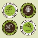 Set of Natural Organic Product badges Royalty Free Stock Photo
