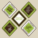 Set of Natural Organic Product badges Royalty Free Stock Photo