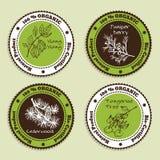 Set of Natural Organic Product badges Royalty Free Stock Photos