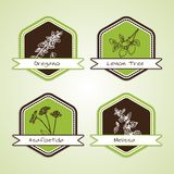 Set of Natural Organic Product badges Royalty Free Stock Photography