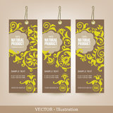 Set of Natural Premium Quality Labels. Royalty Free Stock Photos