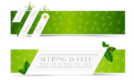 Set of Spring Banners. Set of Natural Spring Banners Royalty Free Stock Photography