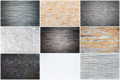 Set of natural stone wall texture for background Royalty Free Stock Image