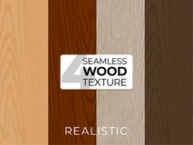 Set of natural vector textures. Wooden seamless patterns. Vector illustration for posters, backgrounds, print, wallpaper stock photo