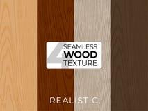 Set naturalne wektorowe tekstury Drewniani bezszwowi wzory Wektorowa ilustracja dla plakatów, tła, druk, tapeta zdjęcie stock