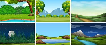 Set of nature background royalty free illustration