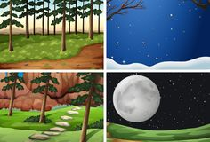 Set of nature background. Illustration royalty free illustration