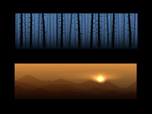 Set of nature banners Stock Images
