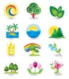 Set of nature design elements Stock Photos