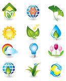 Set of nature design elements Royalty Free Stock Image