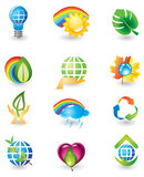 Set of nature design elements Stock Image