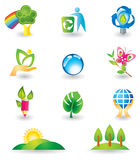 Set of nature design elements Stock Photos