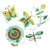Set of Nature Elements vector illustration