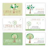 Set of nature and gardening business cards Stock Images