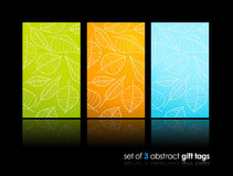 Set of nature gift cards with reflection. Stock Images
