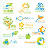 Set of nature icons vector illustration