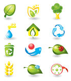 Set of nature icons Royalty Free Stock Image