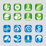 Set of nature icons stock photo
